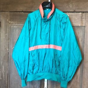 Vintage 80s quarter zip nylon windbreaker